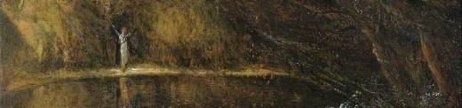 Smetham, James, 1821-1889; Woman by a Lake